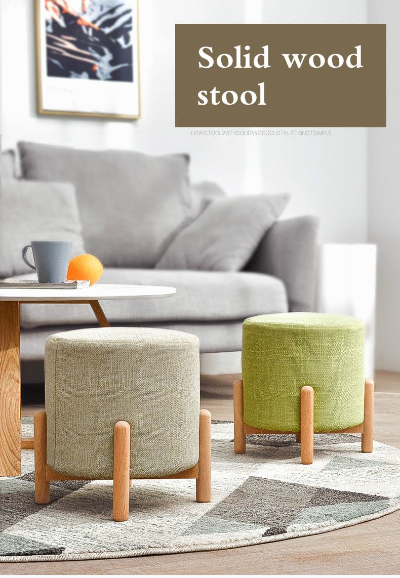 BIG SALE] Small Stool Living Room Home Fabric Stools Children Solid ...