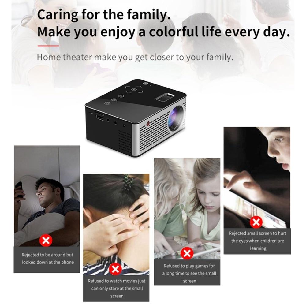 Mini projecteur portatif de vidéo HD USB HDMI de cinéma de Micro LED pour l'écran de Transmission T200 de conception courte de foyer de cinéma à la maison