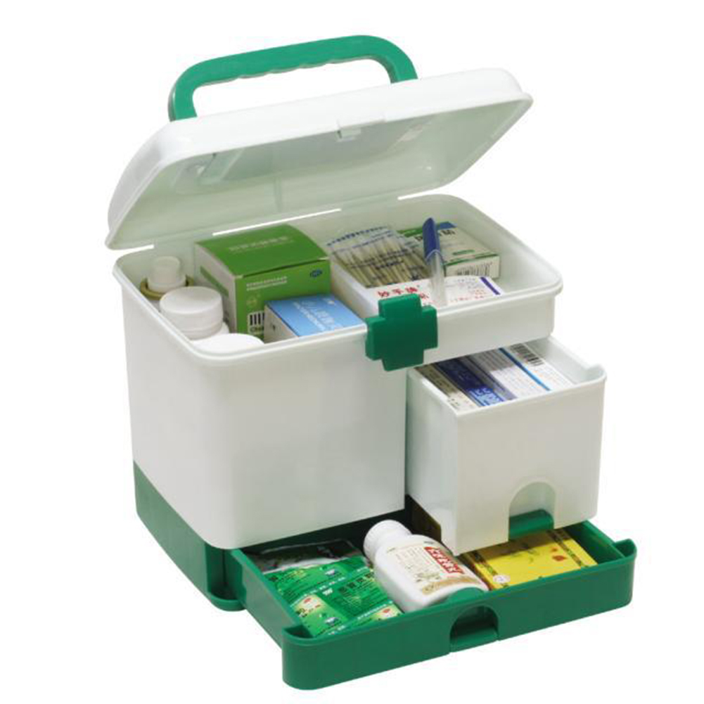 Multi functional Household Medicine Box Multi layer First Aid Kit Big  Capacity drawers Medicine Cabinet storage 23.5*17*20.3cm -in Storage Boxes  & Bins from ... - Multi Functional Household Medicine Box Multi Layer First Aid Kit