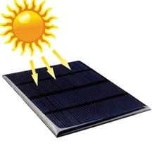 Células de Silício Painel Solar 12 V 1.5 W Painéis Solares Epoxy Mini Policristalino Módulo DIY 115x85mm