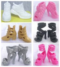New Arrive Wholesale Genuine 1 pair Doll Boot Sneaker 1/6 Fashion 30cm Princess Doll Shoes Bow Flat Sandals for Barbie Doll(China)