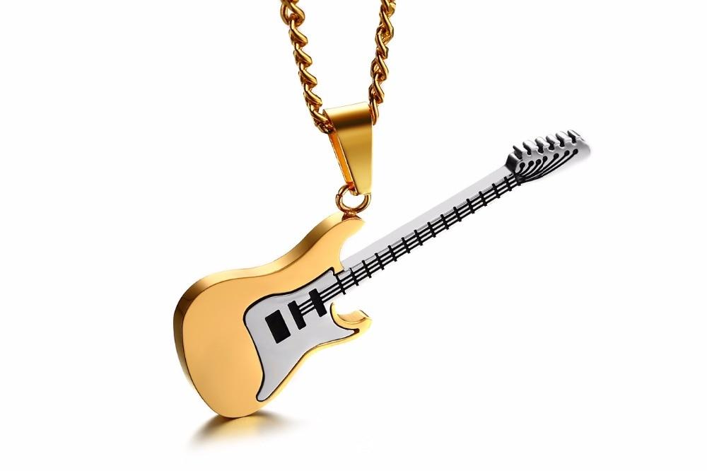 Купить 2020 модное мужское ожерелье цепь музыкальные инструменты ожерелья