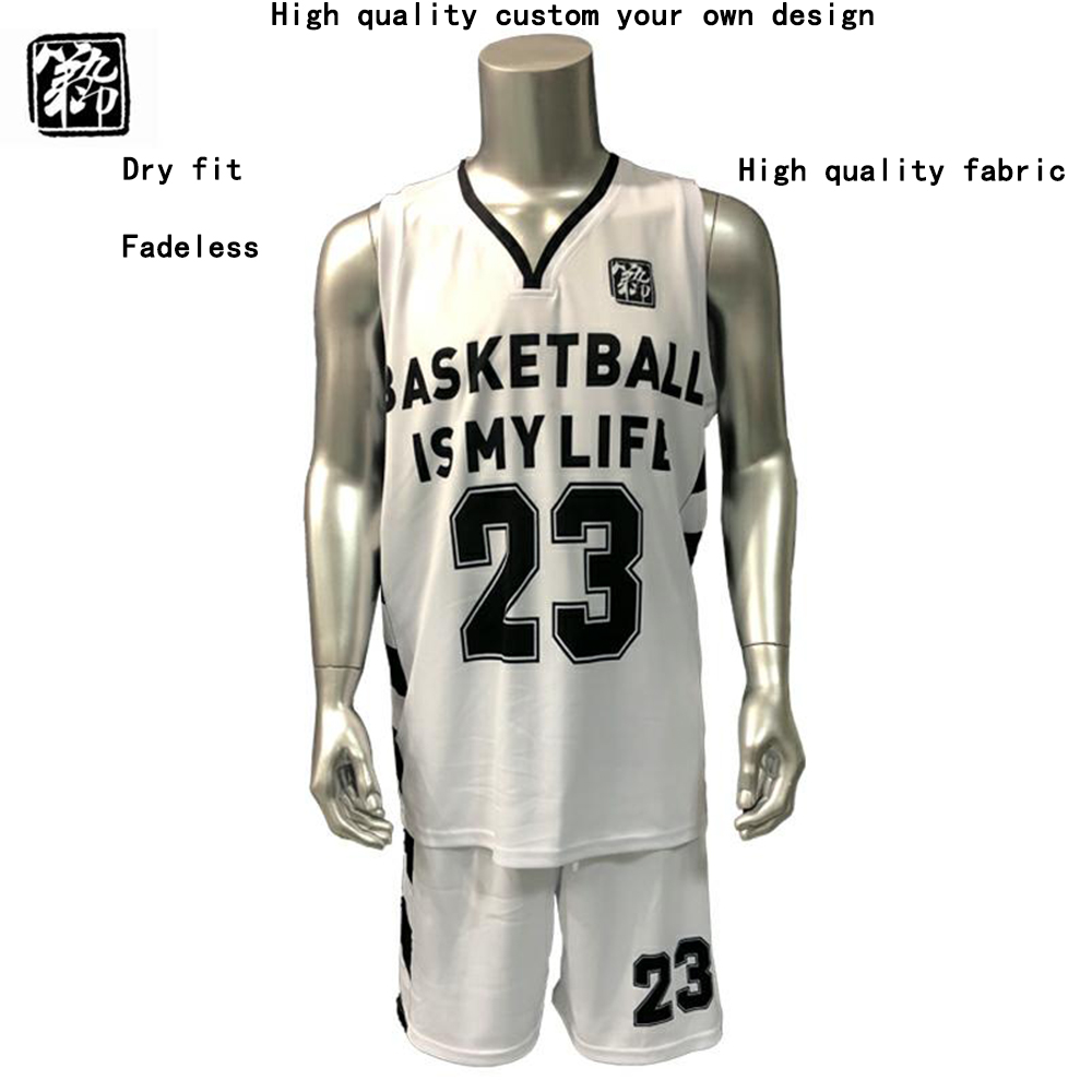 91341c906418 High quality basketball jerseys Boys breathable custom basketball uniforms  college basketball suits DIY set 2018 new set