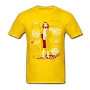 Image 4 - Bật Dude Lớn Lebowski Áo Bầu Không Khí Thun Nam Cotton Plus Size Nữ Tay Ngắn Tùy Chỉnh Ngộ Nghĩnh T Áo Sơ Mi