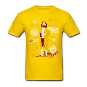 Image 4 - Поп Dude БОЛЬШОЙ ЛЕБОВСКИ футболка атмосферу футболка Для мужчин хлопок размера плюс короткий рукав пользовательские Забавные футболки