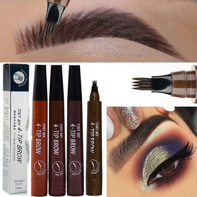 Microblading Eyebrow ปากกาเคล็ดลับส้อม Eyebrow Tattoo ดินสอ Long Lasting Professional Fine Sketch Liquid Eye Brow Pencil