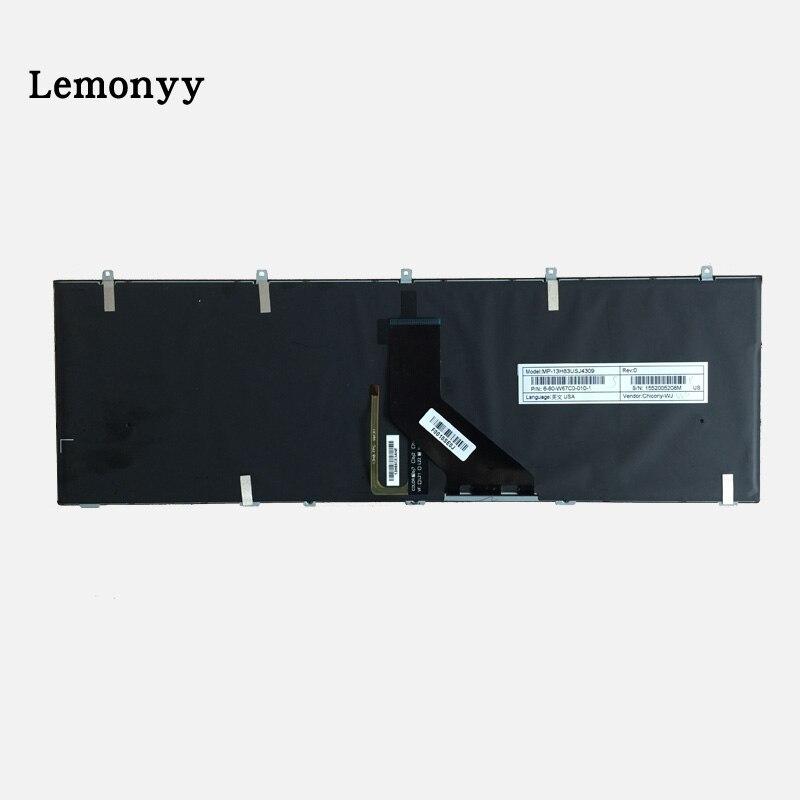 新 Clevo ため W650 W350SKQ W370STQ W670SR W370ET W350ET W350 W370 W655 W670 黒ブラックライト英語キーボード  グループ上の パソコン & オフィス からの 交換用キーボード の中 3