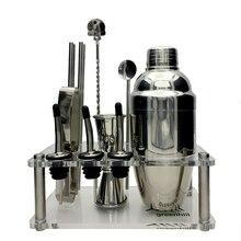 Greenhill Premium Bar Werkzeugsatz/12 Stücke Barware Cocktail Shaker Kit (18/8), Jigger, löffel, gießen, stroh, eiszange & Stand