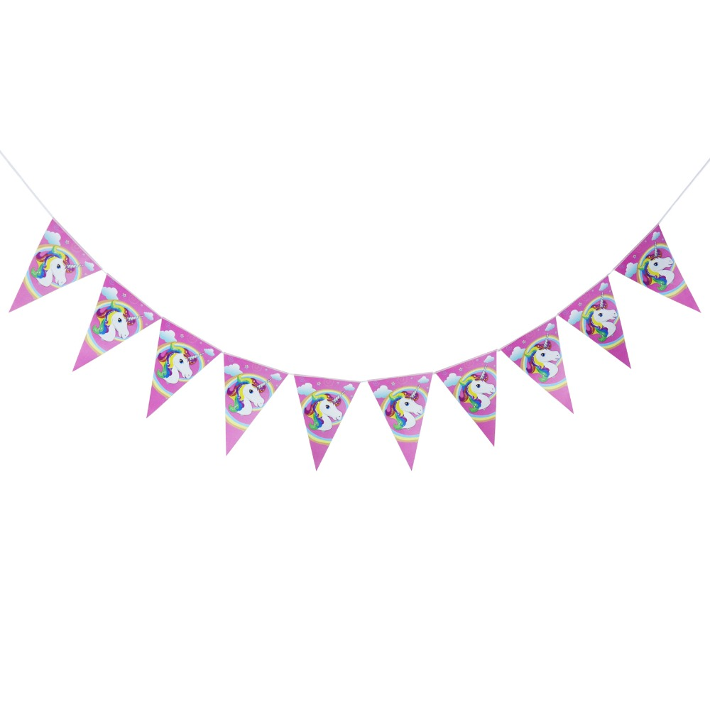 Unicorn Theme Party Decoration Pink Banner,Toothpick flags,Unicorn Candles,Cake Flag,Forks,Kids Birthday Party Festival Supplies Рыбная ловля