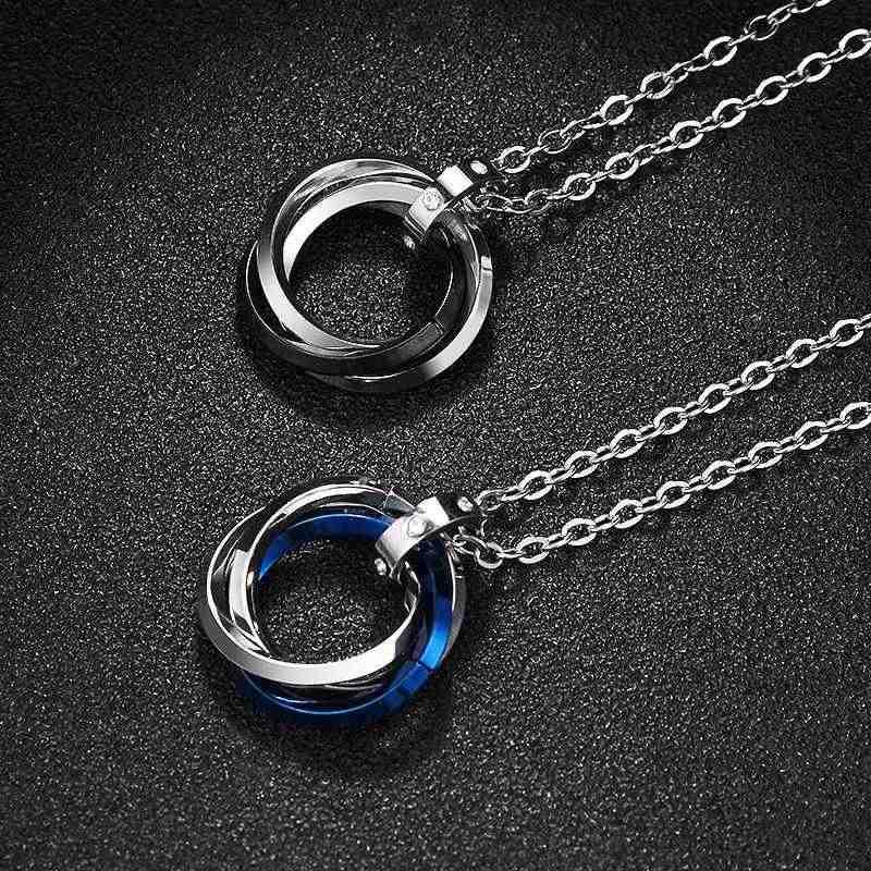 LKO nowy trzy części wisiorek titanium stali nierdzewnej list hip hop naszyjnik mężczyzn sweter łańcuch para ze stali nierdzewnej biżuteria ze stali nierdzewnej