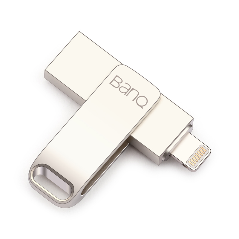 все цены на BanQ A6S USB Flash Drive 32GB 64GB For iPhone 8 7 Plus Lightning to Metal Pen Drive U Disk for MFi iOS10 memory stick 128GB онлайн