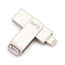 Banq A6S USB Flash Drive 32 ГБ 64 ГБ для iphone 8 7 Plus Lightning/металлическая ручка привода U диск для mfi-контроллеров iOS10 Memory Stick 128 ГБ