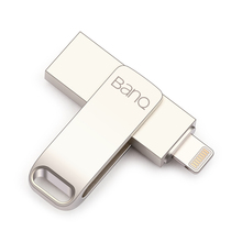 BanQ A6S USB Flash Drive 32GB 64GB For iPhone 8 7 Plus Lightning to Metal Pen Drive U Disk for MFi iOS10 memory stick 128GB