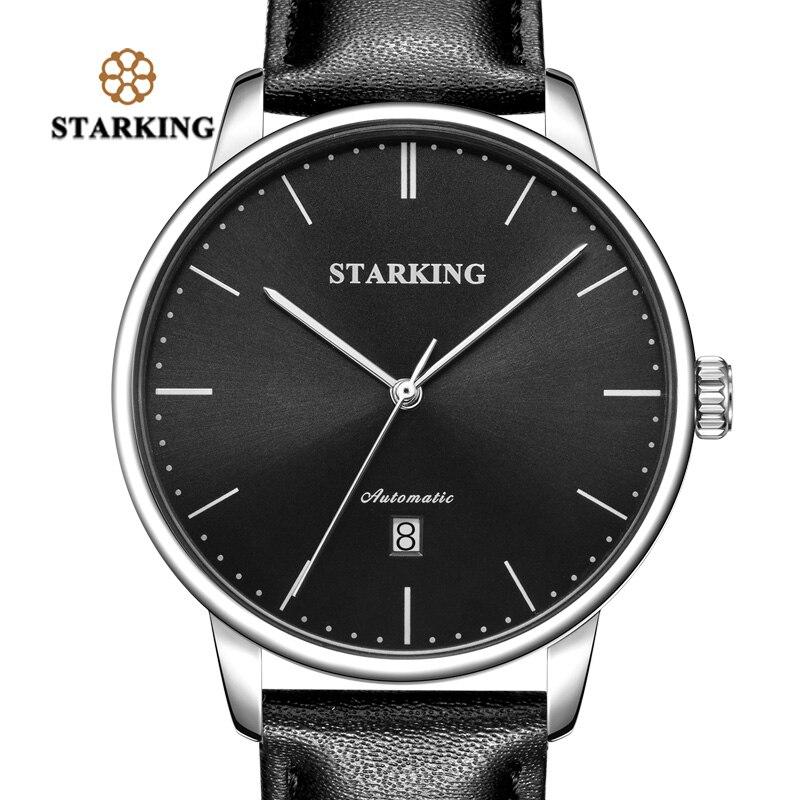 STARKING marque de luxe pas cher montre mécanique automatique Date automatique Auto-vent mâle horloge 28800 haute battre montre Relogio Sport TM0915 - 4