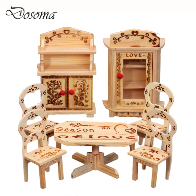 mini wooden diy doll bedroom set simulation dresser small furniture miniature model toys dollhouse furniture toys affordable dollhouse furniture