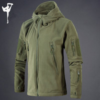 Winter Warm Outerwear Casual Hoodie Coat Jacket Military Tactical Fleece Jacket Men Camouflage Sportswear Clothes Windbreaker