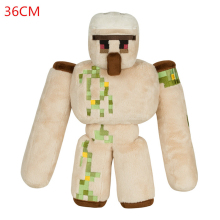 Minecraft Plush Toys 36cm Minecraft Iron Golem Sword Pickaxe Stone Bed Box Action Figure Model Toys for Kids Children Gifts