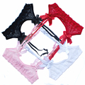 Ligas de encaje Vintage de cintura alta baratas medias Sexy negro rojo Suspender cinturones para medias envío gratis