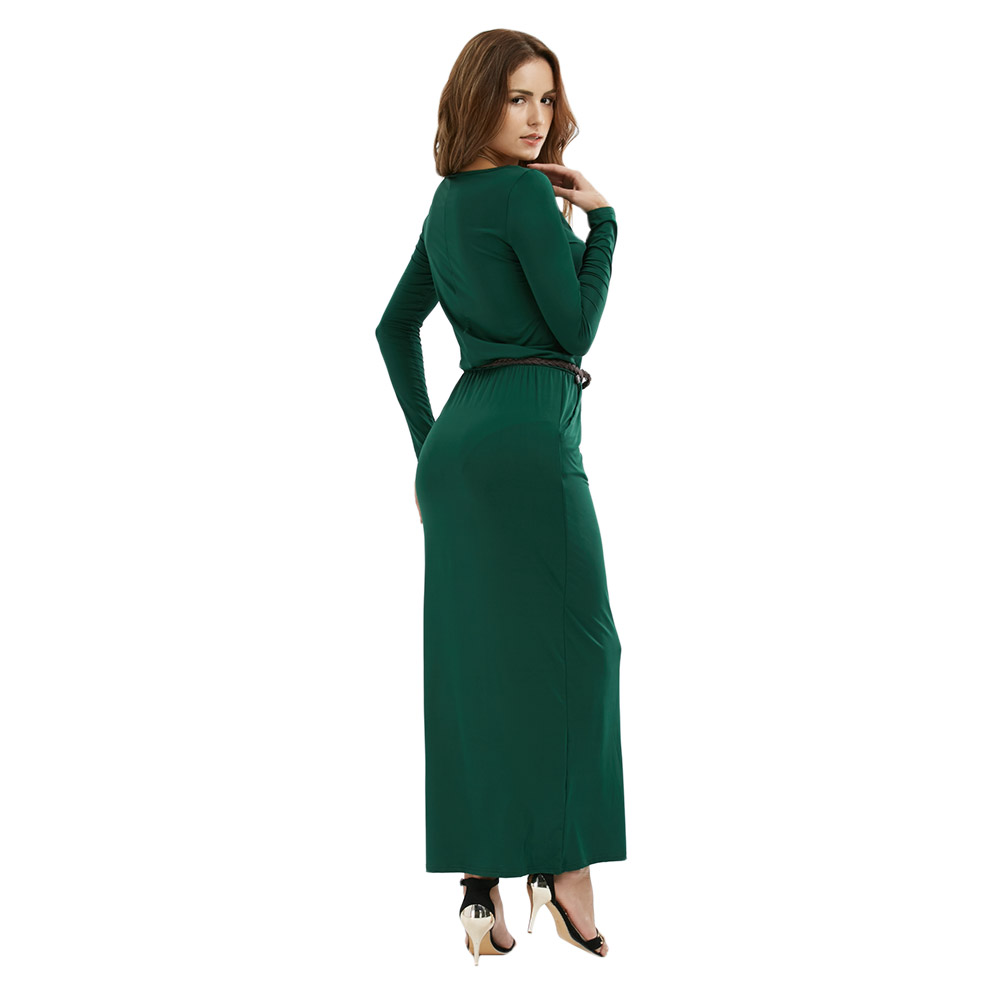 VESTLINDA Vintage Vestidos Longo Jurken Women Maxi Dress Full Sleeve Casual Dress Autumn A Line Solid Ropa Mujer Long Dress 10