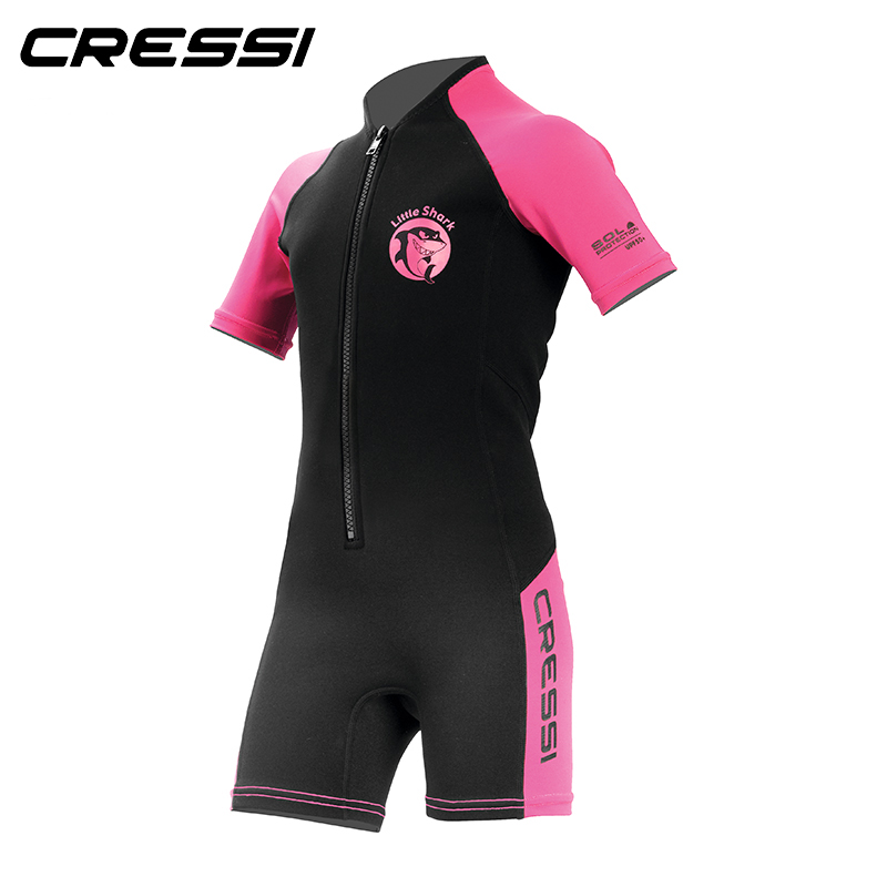 bc7b069f7c Cressi LITTLE SHARK 2mm Shorty Wetsuit Children Boys Girls Keep Warm  Neoprene Snorkeling Swimming Suit for Kids-in Wetsuit from Sports &  Entertainment on ...