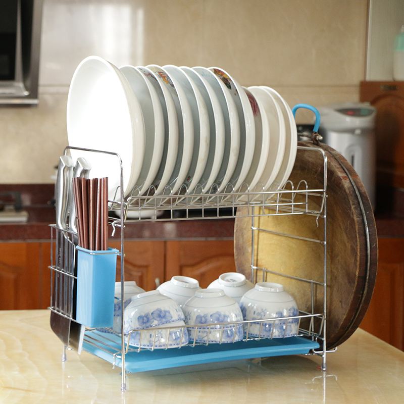 comprar moderno mobiliario de cocina de acero inoxidable aparador titular de no plegable plato plataforma de bao estante de