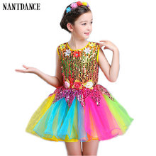 Meninas vestido de balé para crianças menina vestido de dança crianças lantejoulas trajes de balé para meninas tutu dança menina palco dancewear para o menino
