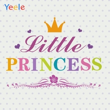 Yeele Baby Shower Princess Clever Girl Crown Love Photography Backdrops Personalized Photographic Backgrounds For Photo Studio