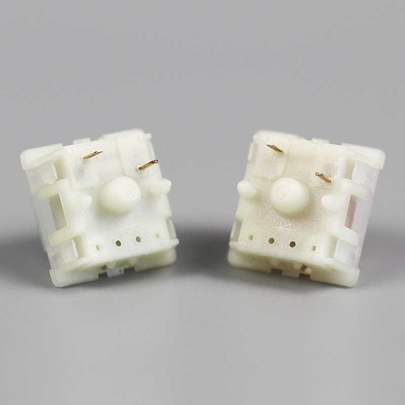 Gateron 5pin przełącznik mleczna obudowa przełącznika dla klawiatur mechanicznych