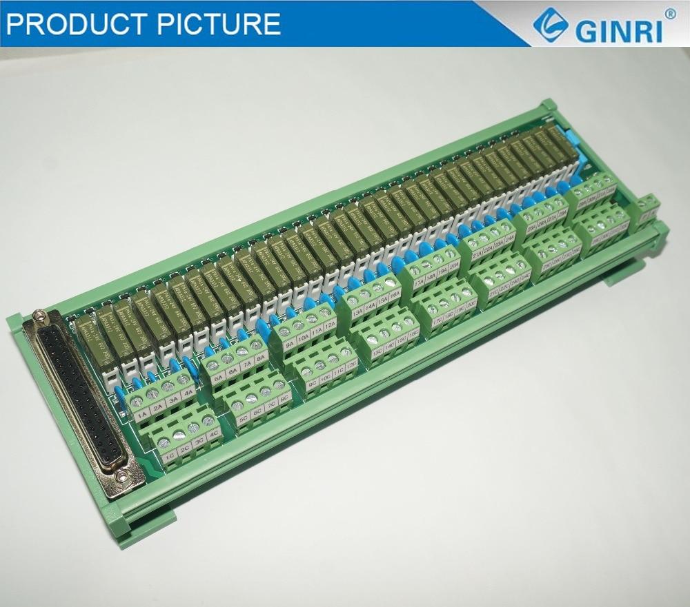 Ginri Jr D32pc F Ah 32 Channel Hongfa Relay Plc Interface Modules Electronic Circuit 10tbc Dc24v Ac125v Terminal Block Sms Module