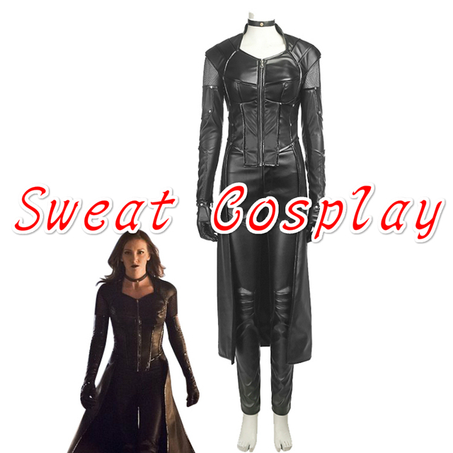 7ab39f8efcf US $136.0 |High Quality Green Arrow Season 5 Black Siren Costume Halloween  Costume Evil Black leather suit Black Canary cosplay costume-in Movie & TV  ...