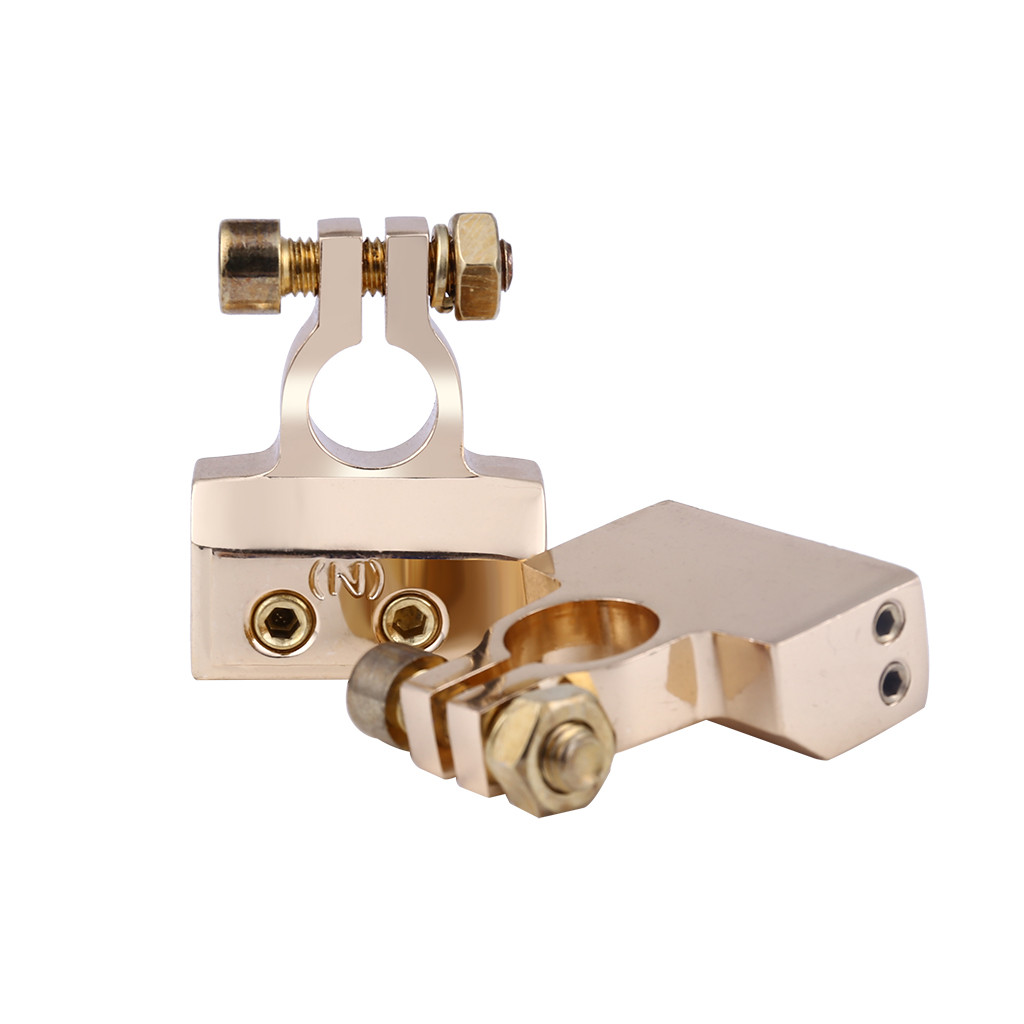 2pcs HEAVY DUTY Brass Plated Car Battery Terminals (Positive/Nagative) 4,8 AWG