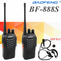 2pcs NEW Portable Walkie Talkie Two Way Radios UHF Ham Radio HF Transceiver Baofeng 888 For