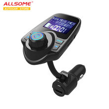 Semua Beberapa T10 Bluetooth Mobil Kit Handsfree Set FM Transmitter MP3 Musik Player 5 V 2.1A USB Charger Mobil aux Lubang Garis & LINE OUT(China)