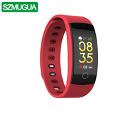 SZMUGUA SMart Bracelet Watch QS80 Plus Real Time Heart Rate Sports Watch Fitness Tracker Blood Pressure Smartband Watherproof