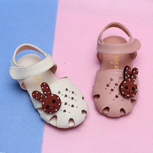 COZULMA Baby Girl Heart Cut-out Sandal Shoes Toddler Kids Party Anti-slip Rabbit Flat Shoes Baby Summer Shoes Enfants Size 15-25