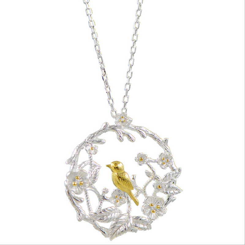 XIYANIKE New products 925 Sterling Silver Bird Classic Creativity Necklaces Engagement Wedding Gift Jewelry Promotions VNS8403