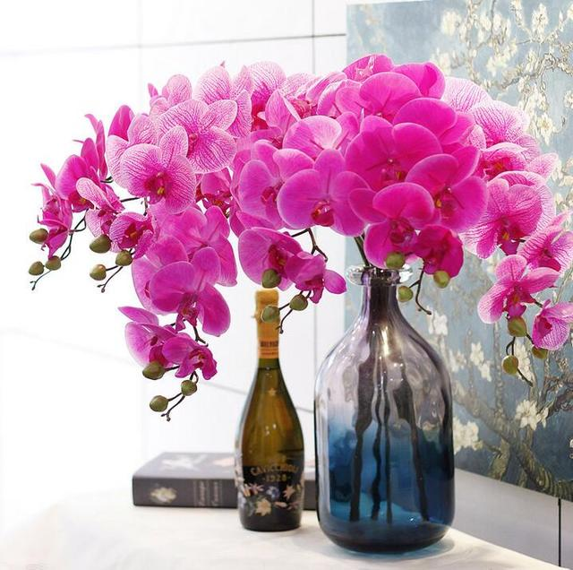 10pcs artifical orchid flower bouquet flower centerpiece table vase ...