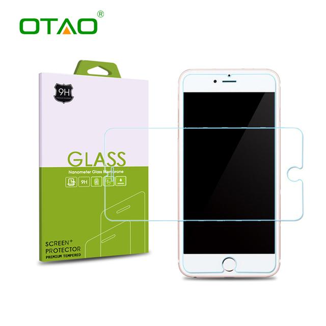 Tempered glass screen protector pellicola per apple iphone 7 6 6 s più 5 s se 5c 4 s temperato protettiva guard con vendita al dettaglio cornici e articoli da esposizione