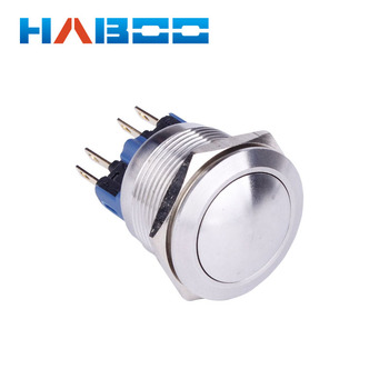 10pcs/lot high quality dia.22mm anti vandal stainless steal push button switch reset momentary metal switch IP67 250V 3A