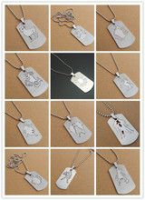 New double detachable 12 constellation twelve zodiac pendant necklace stainless steel Sign charm
