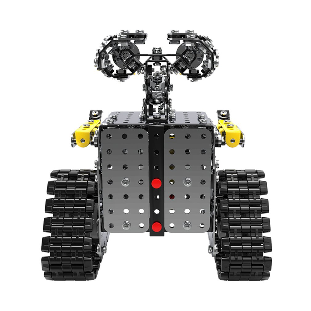 DIY 470PCS Stainless Steel Tile Robot Static Slidable Alloy Assembled Toy Robot Children's Room Decorations Gift