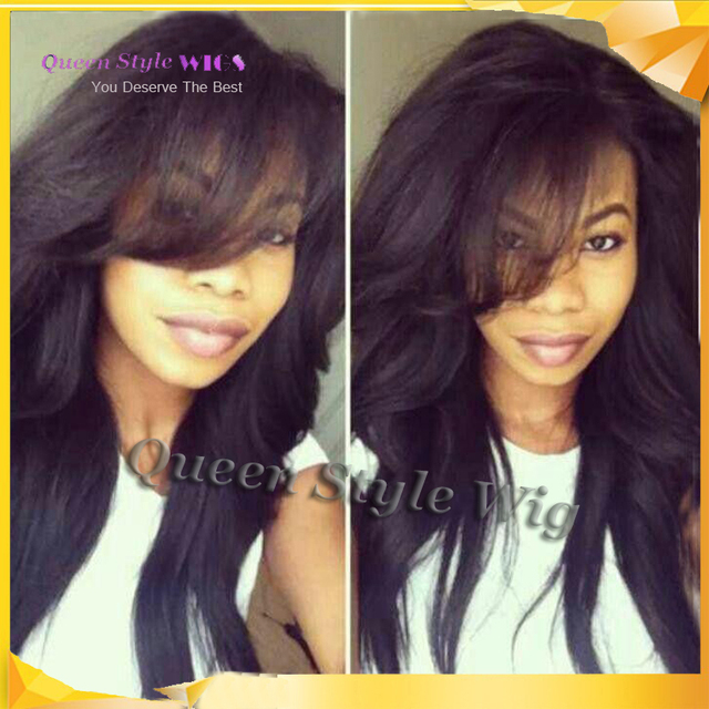 Natural Wig Soft Smooth Synthetic Black Color Long Loose Wave Hairstyle African American Lace Front Wigs