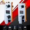 Quyanre Digital Screen 2 And 3 Functions Valve Mixer Tap Single Handle Bathroom Shower Faucets Set