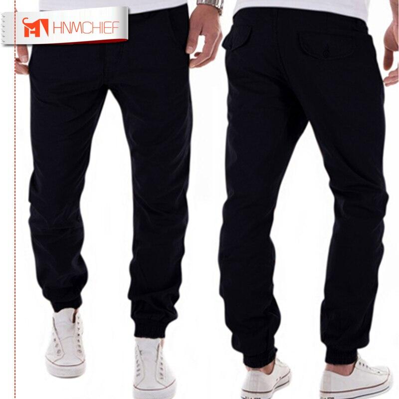 HNMCHIEF Mens Joggers 2017 Brand Male Trousers Men Pants Casual Solid Pants Sweatpants Jogger Harem Khaki Sweatpants XXXL