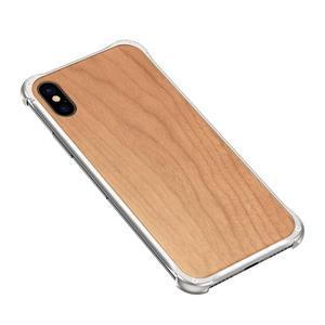 Image 3 - Iphone xs最大xr iphone x xsケースカバーハイブリッドウッド金属フレームバンパーバックケースカバーiphone 6 6s 7 8 プラス