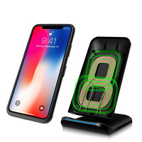 Qi Wireless Charger For iPhone X 8 8 plus Samsung Note 8 S8 Plus S7 S6 Edge LG Phone Fast Wireless Charging Docking Dock Station