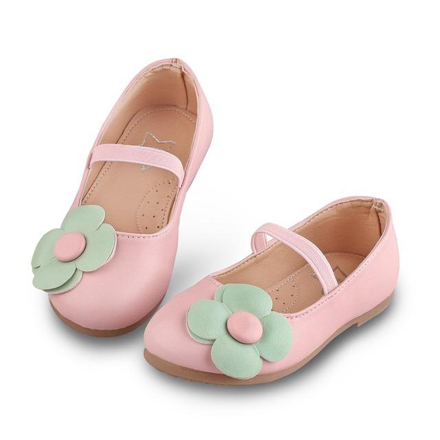 2016 spring & autumn criança flor sapatos slip-resistente sola macia sapatos meninas princesa de couro pu sapatos de bebê bonito sapatos único