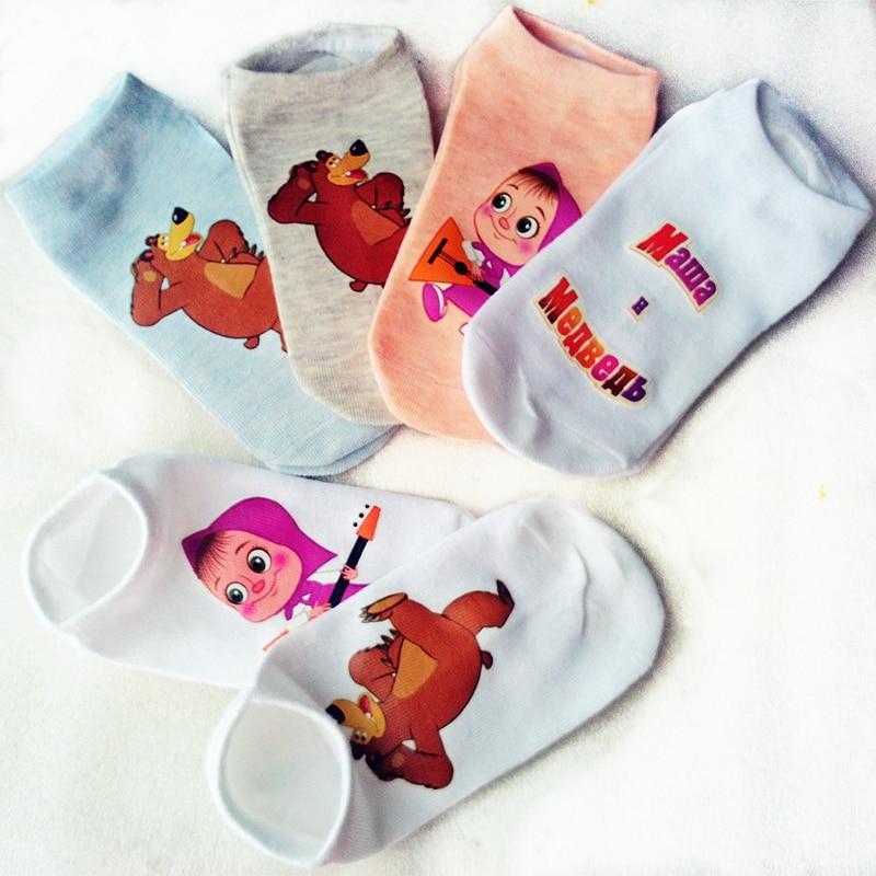 Atacado crianças meias de algodão crianças meias para meninas meninos 6-14 Anos de Idade padrão dos desenhos animados 6 cores ZL0718