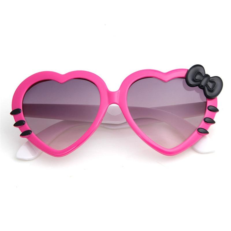 Women's Sunglasses Cute Cat Eye Sunglasses Children Bow Glasses Boys Girls Universal Cartoon Fashion 2019 Luxury Brand Kids Sunglasses Fashionable Women's Glasses