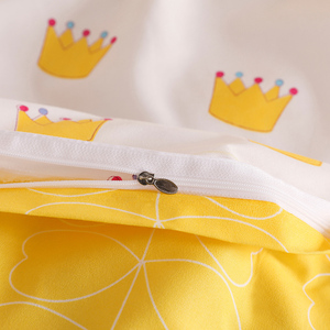 Image 5 - Bonenjoy黄色の王冠シングルベッドセット反応性プリントシンプルなダブルベッドシートropaデcama女王ベッドリネンキングサイズ寝具
